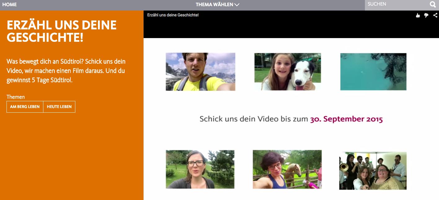 Südtirol Tourismus - video kampagne