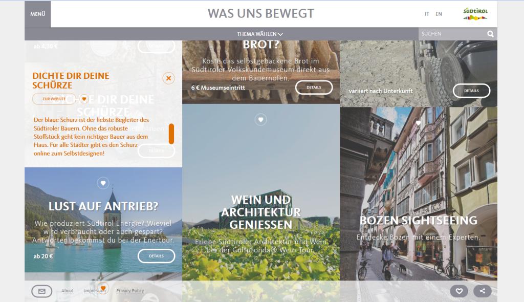 Südtirol Tourimus - was uns bewegt Kampagne